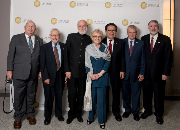 Some 2013 Inductees with Vint Cerf