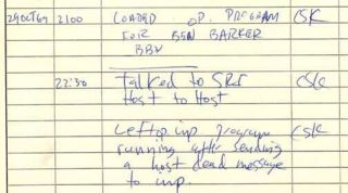 Arpanet First Message Log