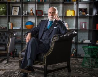 Vinton Cerf in May 2015 at Google's offices in Washington, D.C. (Bill O'Leary/The Washington Post)